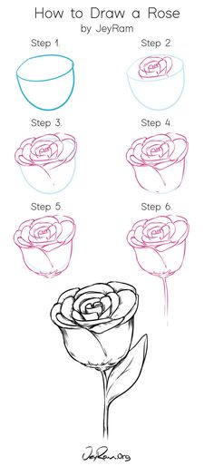 How to Draw Roses: Tutorial & Free Worksheet (Printable PDF) — JeyRam : Art - Grab the free works. Cool Art Drawings, Pencil Art Drawings, Art Drawings Sketches, Easy Drawings, Flower Drawings, Cool Drawing Designs, Pencil Sketches Of Flowers, Flower Design Drawing, Cute Designs To Draw