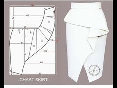 Skirt Patterns Sewing, Sewing Patterns Free, Clothing Patterns, Pattern Skirt, Coat Patterns, Blouse Patterns, Sewing Collars, Fashion Sewing, Couture Sewing