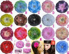 Bulk lot of 20 PCS Girl Lady Women 3.2 inch Silk Flower Hair Bow Clip