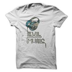 (Top Tshirt Choice) EVIL MUSIC [Tshirt Facebook] Hoodies, Funny Tee Shirts