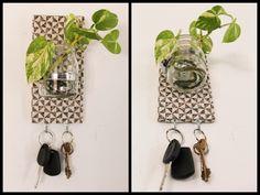 Frasco + Llavero Decora con flores, plantas, o bien aprovecha para tener chocolates o caramelos a mano!! Medidas: ancho 10 cm, alto 20 cm. TONBO. Arte y Decoracion. Objetos que unen.