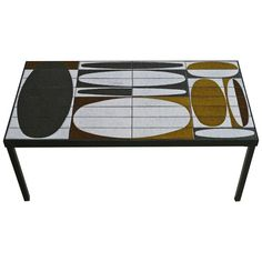 Low Table by Roger Capron, Vallauris - France, circa 1960 | From a unique collection of antique and modern coffee and cocktail tables at https://www.1stdibs.com/furniture/tables/coffee-tables-cocktail-tables/