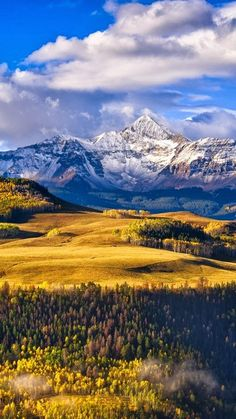 Fall colors near Telluride, Colorado - pictured is Wilson Peak. I was made for Colorado♥ Wyoming, Le Colorado, Telluride Colorado, Colorado Rockies, Places To Travel, Places To See, Travel Destinations, Beautiful World, Beautiful Places
