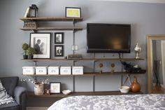 master bedroom TV wall