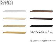 RAVASHEEN's Meow-dern Wide Shelf Sims 4 Clutter, Sims 4 Cc Furniture, Sims 4 Cas, Cat Tree, Decorative Items, Objects, Shelves, Shelving, Decorative Objects