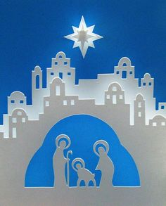 Manger Silhouette | nativity by mollyjey, via Flickr | SVGs, Silhouette Cameo, design ide ...