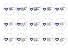 Charity cake toppers with 25% of sales donated to the Children's Heart Surgery Foundation. Perfect for fundraising through bake sales on cakes, cupcakes and bread, or charity events on cookies and cocktails. Easy to use at home and 100% edible. Printed on rice paper or icing and available for next day delivery. Buy now