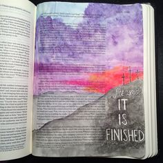 another pretty idea for the crucifixtion story ♡ on pinny, on insta ♡ Scripture Doodle, Faith Scripture, Bible Art, Bible Drawing, Bible Doodling, Bible Verses Quotes, Bible Scriptures, Bible Study Journal, Bible Notes