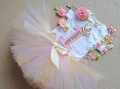 Birthday Girl Outfit Pink and Gold Birthday Outfit, Princess Tutu Birthday… 1st Birthday Princess, Baby Girl 1st Birthday, Bday Girl, Birthday Tutu, Gold Birthday, First Birthday Parties, First Birthdays, Princess Tutu, Princess Photo