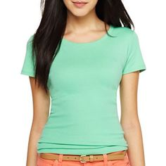 jcp™ Short-Sleeve Crew-Neck Tee - jcpenney