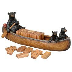 Bear Canoe Domino Set