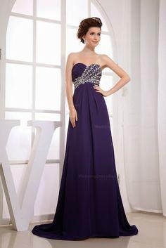 Elegant Strapless Half Beaded Ruched Top Evening Dress | Fashion World