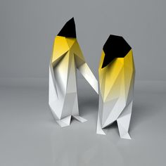 """manchots empereur from the """"disfaceted animals"""" by janreji"""