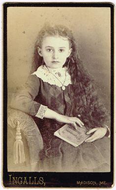 Edith M Rand in Madison Maine by Ingalls 1887 CDV | eBay