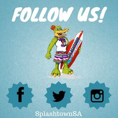 Did you know we're on #Facebook, #Instagram, AND #Twitter?  Follow SplashtownSA