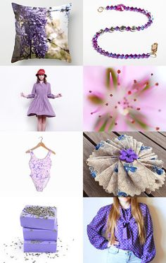Purple Features  by Naomi swann on Etsy