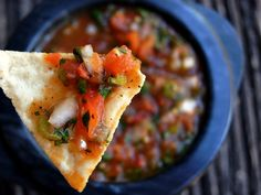 roasted tomato poblano salsa from Cooking On The Weekends