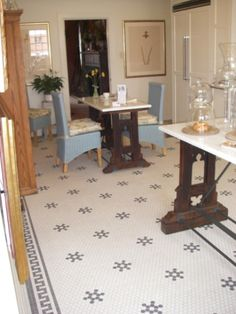 Classic Tile Floor For The Kitchen