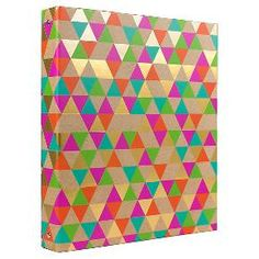 """Greenroom™ 1"""" Ring Binder with Hard Cover - Multicolor : Target"""