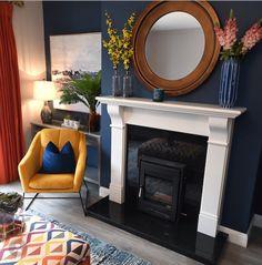 Living room fire place setting #livingroom