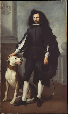 Bartolomé Estebán Murillo (Spanish, 1617–1682). Don Andrés de Andrade y la Cal, ca. 1665–72. The Metropolitan Museum of Art, New York. Bequest of Collis P. Huntington, by exchange, 1927 (27.219) #dogs