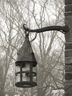 medieval street lamp.