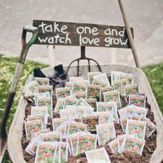 Sow a little green fingered love and happiness with plantable wedding favours.
