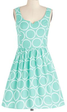 Dotted dress in #mint http://rstyle.me/n/jg965nyg6