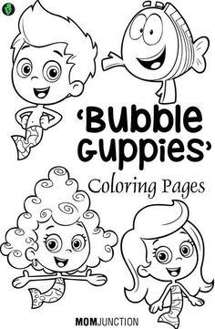 Top 15 Bubble #Guppies #Coloring Pages // Las mejores 15 páginas para colorear de los Bubble Guppies