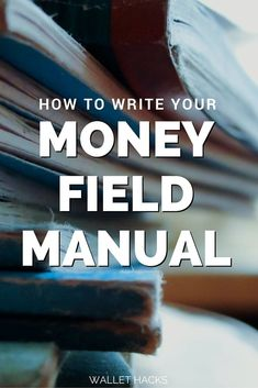 The money field manual is the second document in our financial arsenal - it contains a listing of every account, every point of contact, and acts as a manual to our finances if I can't be there to explain it. You need one too - learn how to write a money field manual. | finance | personal finance | net worth | track net worth | financial documents || Wallet Hacks #finance #personalfinance