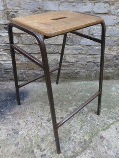 Junk Deluxe :: Vintage School Ply Lab Stools £25
