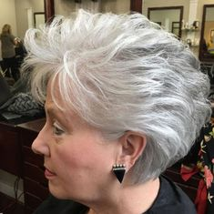 Gorgeous Gray Hair Styles Mine does this naturally! Short Gray Hairstyle For Older WomenMine does this naturally! Short Gray Hairstyle For Older Women Mom Hairstyles, Modern Hairstyles, Short Hairstyles For Women, Gorgeous Hairstyles, Popular Hairstyles, Japanese Hairstyles, Feathered Hairstyles, Asian Hairstyles, Updos Hairstyle