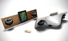 Bamboo AeroPad Two Speakers for Apple iPad