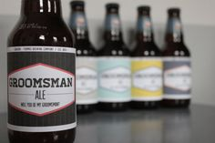 6 Will you be my Groomsman Beer Labels by greysparkstudio on Etsy