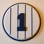 Yankees Room Decor: Yankees Stadium Facade Crown Moulding and Retired Numbers Plaques