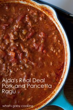 "Pork and Pancetta Ragu Recipe // via @Gaby Dalkin // from Aida Mollenkamp's ""Keys To The Kitchen"" cookbook"