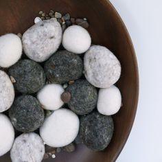 felted stones... #felt #needle