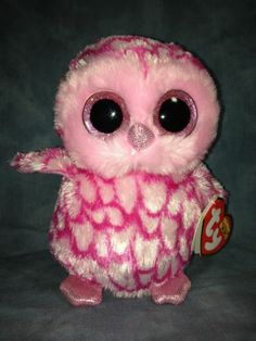 RARE Retired Ty Beanie Baby Beanie Boo Pinky The Pink Halloween Owl 6 New | eBay
