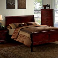 Furniture Of America,Louis Philippe III Eastern King Bed Collection CM7866CH-EK