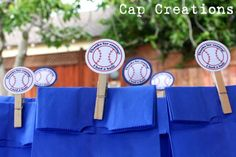 Baseball DIY party with free printables. Super cute and simple