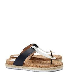 98123e4f0f223 Tory Burch Cork-footbed Flat Thong Sandal Sandals For Sale