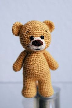 Mini Teddy Kostenlose Pdf Anleitung Crochet Toys Pinterest
