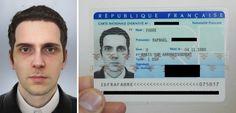 フランスのアーティストRafaël Fabreさん、国民番号に登録する写真がコンピューターで作ったグラフィックで通っちゃったっていうんです。