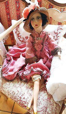 Ancienne-Poupee-de-salon-Boudoir-doll-Art-deco-belle-epoque-1920-1930