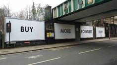 """Subvertising in Acton, West London today"" by pcgamez in london London Today, West London, Billboard, Signs, Stuff To Buy, Internet, Hard Truth, Awesome, Anxiety"