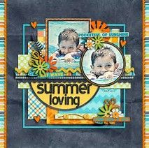 Image result for scrapbook name page layout idea