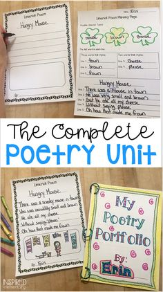 This favorite Poetry Unit has everything you need to teach 14 different styles of poetry and all of the planning and prep are done for you! Included are original poem samples, introduction pages, student planning pages, final copy paper choices, portfolio pages and more!