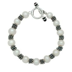 Sterling Silver White Freshwater Pearl & Snowflake Rondell Bracelet in Gift Box JOY DE MER. $83.49. Bag, Cleaning Kit & Information Guide. .925 Sterling Silver Rondels. Gift Box and Free Shipping. White Freshwater Pearl Bracelet. Save 72%!