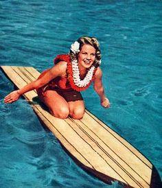 Surf, retro vintage surf pin-up Vintage Surf, Vintage Ads, Vintage Prints, Retro Surf, Vintage Tiki, Vintage Girls, Vintage Travel, Pin Up, Hawaii Surf