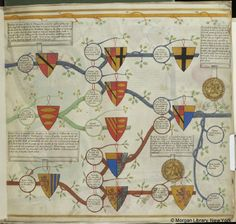 Descents of the houses of Warwick and Essex, MS M.956 fol. 4r - Images from Medieval and Renaissance Manuscripts - The Morgan Library & Museum